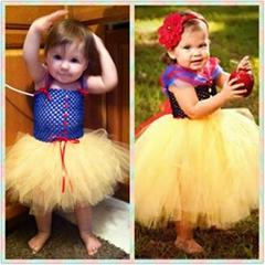 Princess Girls Dresses Costume CChildren Halloween Christmas Snow White Cosplay