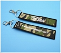 Remove Before Flight Chaveiro Tag Embroidery Keychain Key Ring for Aviation OEM