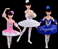 2018 Girl Stage Performance Ballet Tutu Dress Kids Swan Lake Costume Size 110-17