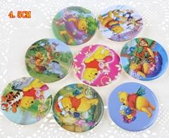 45MM  Moana Elsa Pokemon Trolls Paw Pin Badges Round Buttons Kid Gift Favor