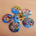 45MM  Moana Elsa Pokemon Trolls Paw Pin Badges Round Buttons Kid Gift Favor