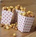 Popcorn Food Multi-color Wave Point Snack Bag Disposable Birthday Wedding Dinner