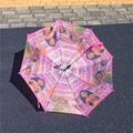 Kids Cartoon Umbrella Long Handle Semi-Auto Student Umbrella Elsa Spiderman Popp