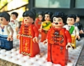 12pcs/Set Chinese Style Action Figures DIY Accembling Building Block Figures Gif