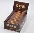 OCB Smoking Rolling Papers with Tips 110*44mm Black Brown 32booklets/box