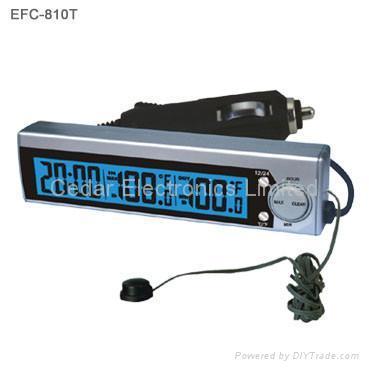 car digital clock with indoor outdoor thermometer efc 823t china manufacturer car. Black Bedroom Furniture Sets. Home Design Ideas