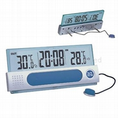 LCD Clock with Indoor / Outdoor Thermometer
