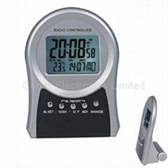 LCD Radio Controlled Clock with Digital Calendar