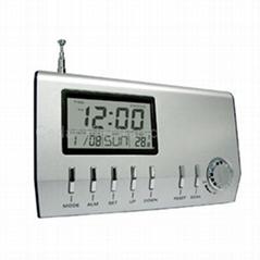 FM自動選台收音機電子鐘