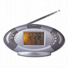 FM收音機萬年曆鬧鐘