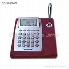 红木座万年历计算器