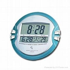 Jumbo Display Radio Controlled Clock With LCD Calendar