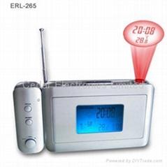投影气象钟收音机