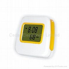 Ultra-thin Pedometer & LCD Alarm Clock
