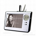 Photo Frame with Penholder and Digital Clock  2