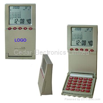 Desktop World Time Calendar Clock with Calculator 2