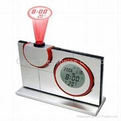 LCD Calendar Clock w/ Projector For Time and Thermometer