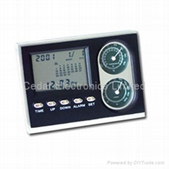LCD Calendar Clock with Thermometer and Hygrometer