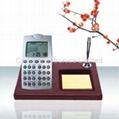 紅木座世界時間電子萬年曆台曆