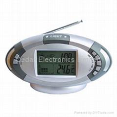 電子氣象鐘收音機