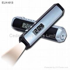 多功能LED白光手电筒(时钟和指南针)