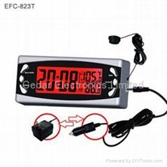 车载内外温度计电子钟