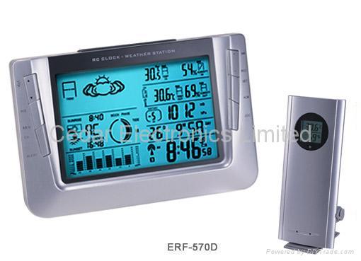 無線氣象站電波鐘 3
