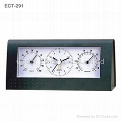 Desk Clock with Thermometer and Hygrometer