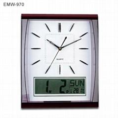 Quartz Wall Clock with L