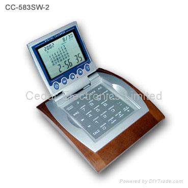 Deaktop Digital Calendar with Calculator & World Time Clock 4