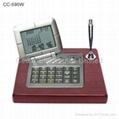 Wooden Desktop LCD Calendar Calculator with World Time Clock 2