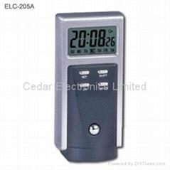 電子日曆鬧鐘手電筒
