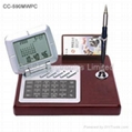 Desktop Perpetual Calendar w/ World Clock and Calculator 1