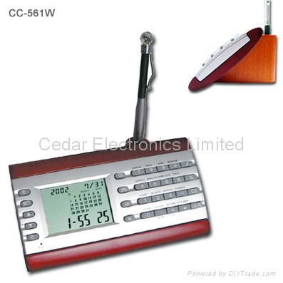 Desktop Perpetual Calendar w/ World Clock and Calculator 3