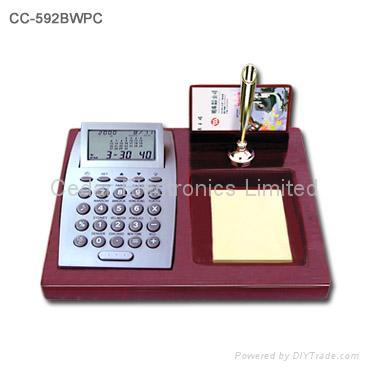 Desktop Perpetual Calendar w/ World Clock and Calculator 5