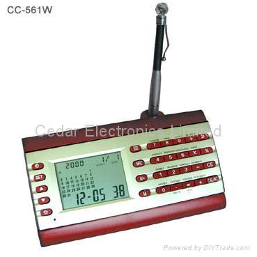 LCD Calendar Calculator On Wooden Base 5