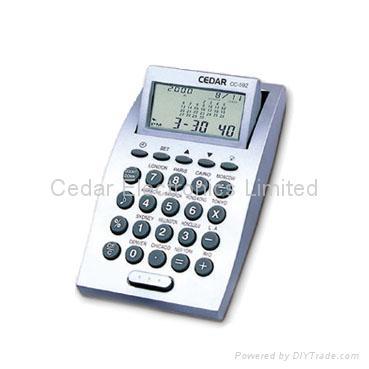 Desktop World Time Calendar Clock with Calculator 4