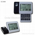 Desktop LCD Calendar Clock with Mirror and Calculator  4
