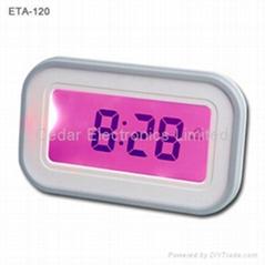 人體感應切換多功能電子鐘