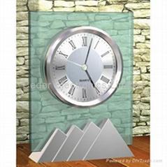 金屬玻璃工藝座鐘