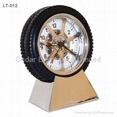 輪胎模型廣告時鐘