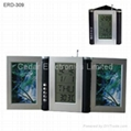 Photo Frame with Penholder and Digital Clock  5