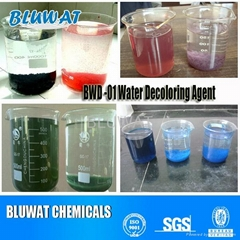Decolorant for dye house effluent
