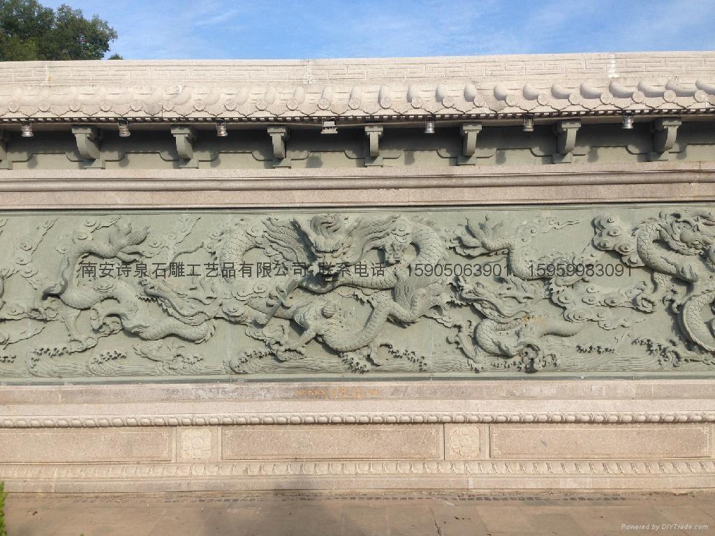 青石浮雕酒龍壁,在線雕刻 3