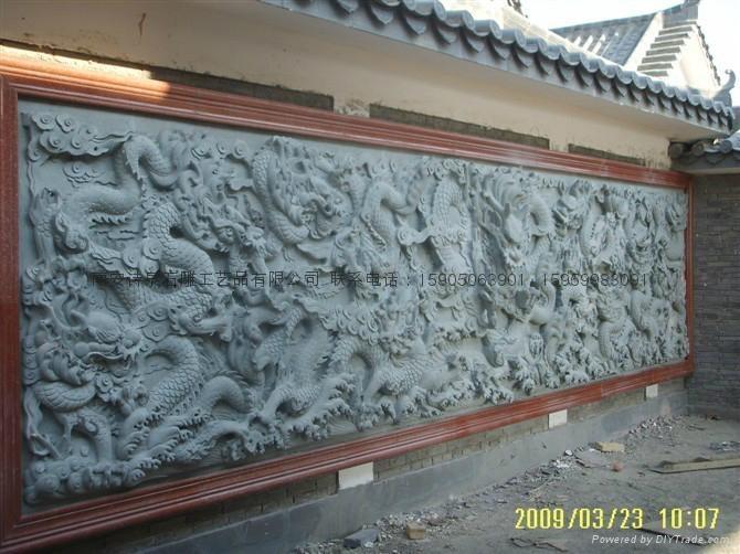 青石浮雕酒龙壁,在线雕刻 4