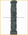 青石浮雕龙柱带十八罗汉 4