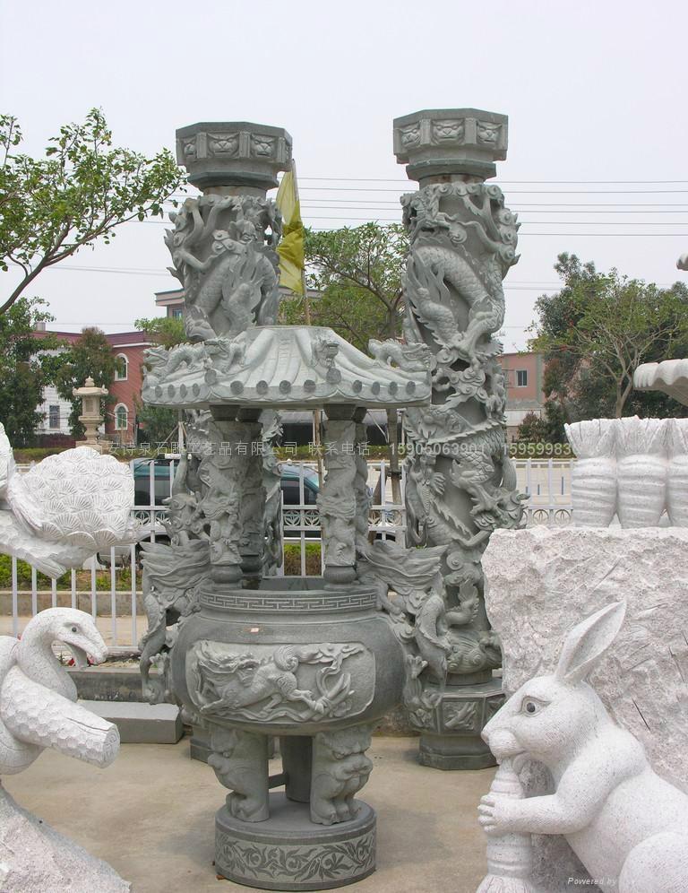 专业生产青石龙柱 石雕批发 厂家直销 1