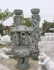 專業生產青石龍柱 石雕批發 廠家直銷