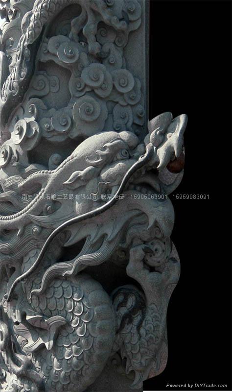 龍柱石雕批發 廠家直銷 2