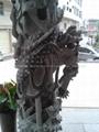 福建石雕厂 寺庙青石龙柱 厂家